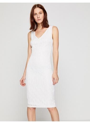 Koton Sırt Detaylı Elbise Beyaz